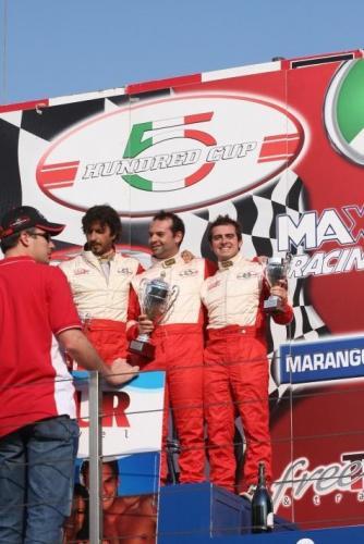 Giorgio Vinella 2008 Fiat 500 Abarth Italian Championship Vallelunga Podium Win victory Miconi Rondinelli 5