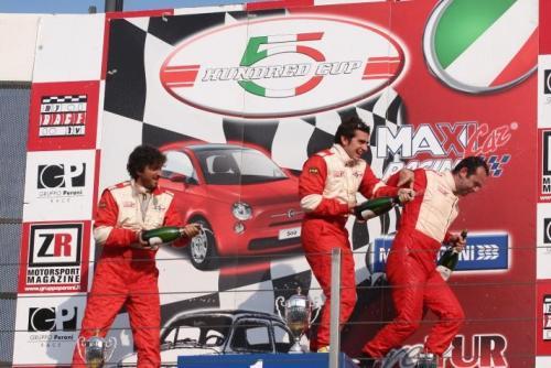 Giorgio Vinella 2008 Fiat 500 Abarth Italian Championship Vallelunga Podium Win victory Miconi Rondinelli 6