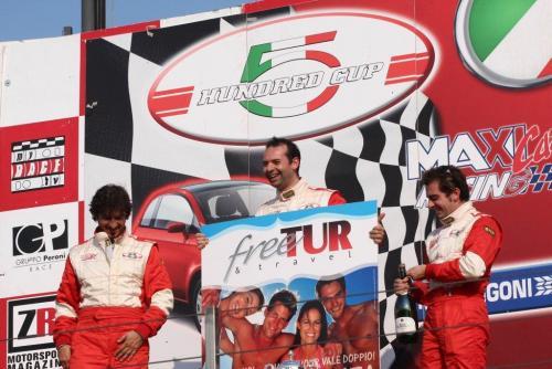 Giorgio Vinella 2008 Fiat 500 Abarth Italian Championship Vallelunga Podium Win victory Miconi Rondinelli 8