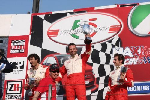 Giorgio Vinella 2008 Fiat 500 Abarth Italian Championship Vallelunga Podium Win victory Miconi Rondinelli 9