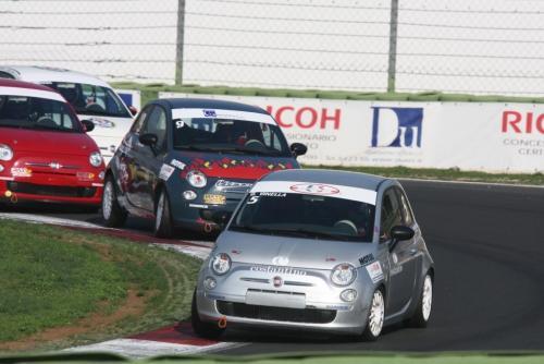 Giorgio Vinella 2008 Fiat 500 Abarth Italian championship Vallelunga win victory Leader corner semaforo