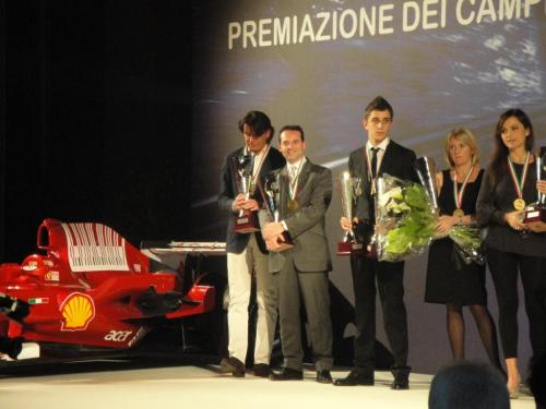Giorgio Vinella Endurance Touring Car  Baroncini 2009 Champion prize party for Champions Vallelunga