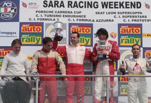 Giorgio Vinella Campionato Italiano Turismo Endurance Baroncini 2009 Campioni Adria BMW E36 podio vittoria Aramis