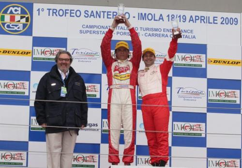 Giorgio Vinella Campionato Italiano Turismo Endurance Baroncini 2009 Campioni Imola BMW E36 podio vittoria