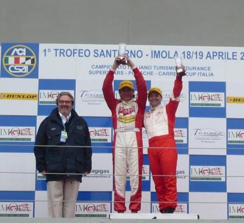 Giorgio Vinella Campionato Italiano Turismo Endurance Baroncini 2009 Campioni Imola BMW E36 podio vittoria 1