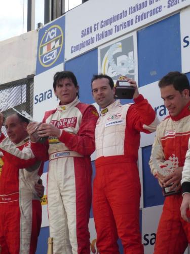 Giorgio Vinella Campionato Italiano Turismo Endurance Baroncini 2009 Campioni Vallelunga BMW E36 podio vittoria