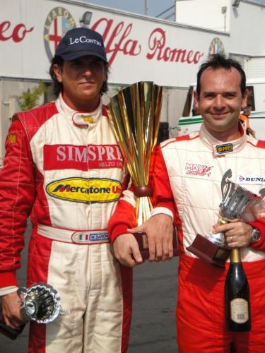 Giorgio Vinella Campionato Italiano Turismo Endurance Baroncini 2009 Campioni Varano vittoria Alfa Romeo 156 2