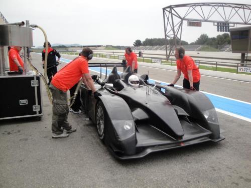 Giorgio Vinella 2010 Audi R10 Diesel Le Mans 24 hour Test Paul Ricard Le Castellet Team Kolles  7