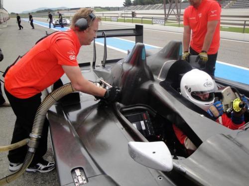 Giorgio Vinella 2010 Audi R10 Diesel 24H di Le Mans Test Paul Ricard Le Castellet Team Kolles 8