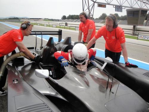 Giorgio Vinella 2010 Audi R10 Diesel 24H di Le Mans Test Paul Ricard Le Castellet Team Kolles 9