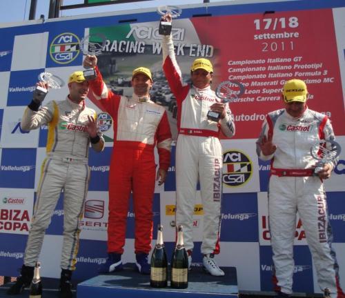Giorgio Vinella 2011 Ibiza Cup Baroncini Seat Championship Win podium Vallelunga Imola Monza Mugello