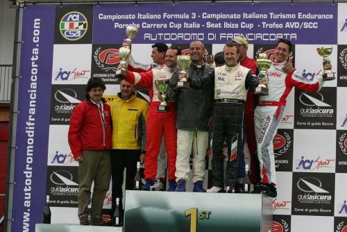 Giorgio Vinella 2011 Ibiza Cup Baroncini Seat Franciacorta podium Ivan Capelli Championship Win