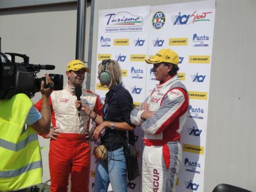 Giorgio Vinella 2011 Ibiza Cup Baroncini Seat Motorsport podium Vallelunga Championship Win TV interview