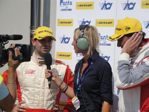 Giorgio Vinella 2011 Ibiza Cup Baroncini Seat Motorsport podium Vallelunga Championship Win TV interview 1
