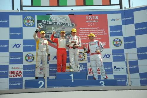 Giorgio Vinella 2011 Ibiza Cup Baroncini Seat Motorsport podio Vallelunga Monza Mugello Vittoria Campionato