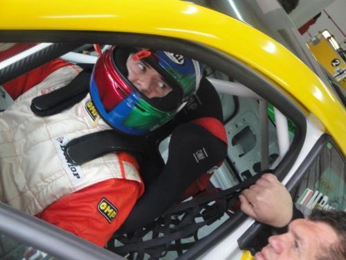 Giorgio Vinella 2012 Champion Ibiza Cup Seat Motorsport official Baroncini Imola Italian Championship leader driver change 1