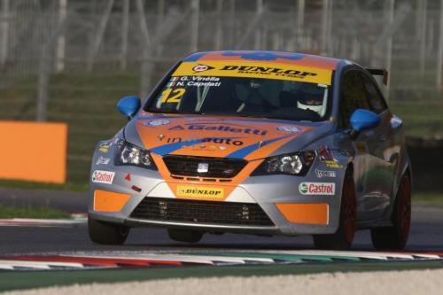 Giorgio Vinella 2014 Seat Motorsport Ibiza Cup 4 hours Mugello Capriati podium 12