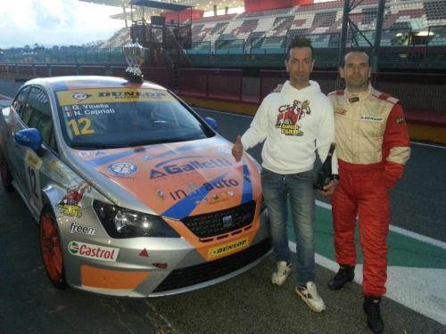Giorgio Vinella 2014 Seat Motorsport Ibiza Cup 4 hours Mugello Capriati podium Ciccio White Danger Farm 1