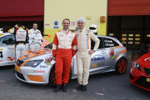 Giorgio Vinella 2014 Seat Motorsport Ibiza Cup 4 hours Mugello Capriati podium  Nicola Capriati