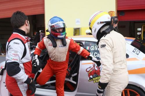 Giorgio Vinella 2014 Seat Motorsport Ibiza Cup 4 hours Mugello Capriati podium  driver change 2
