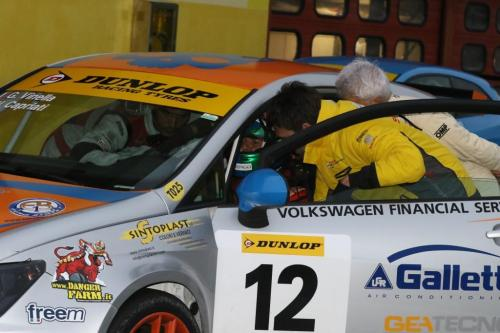 Giorgio Vinella 2014 Seat Motorsport Ibiza Cup 4 hours Mugello Capriati podium driver change