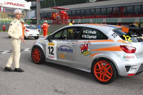 Giorgio Vinella 2014 Seat Motorsport Ibiza Cup 4 hours Mugello Capriati podium race start