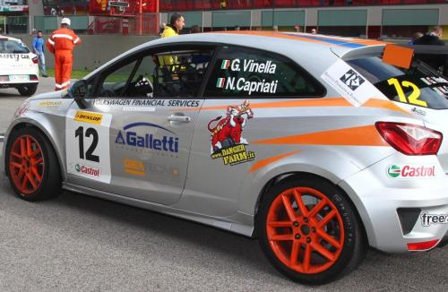 Giorgio Vinella 2014 Seat Motorsport Ibiza Cup 4 hours Mugello Capriati podium race start 1