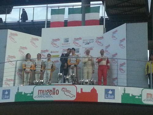 Giorgio Vinella 2014 Seat Motorsport Ibiza Cup 4 Ore Mugello Capriati podio 3