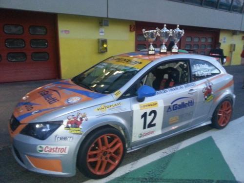 Giorgio Vinella 2014 Seat Motorsport Ibiza Cup 4 Ore Mugello Capriati podio 4