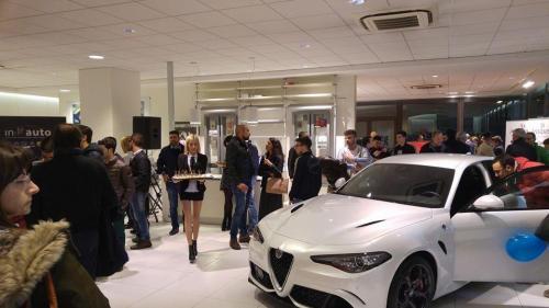 Giorgio Vinella evento Alfa Stelvio concessionaria In-Auto Putignano presentazione Giulia Quadrifoglio