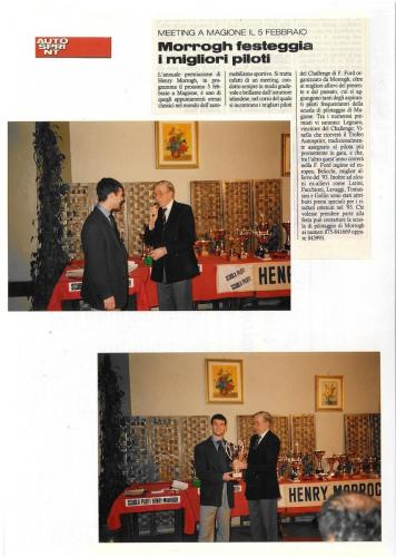 Giorgio Vinella Autosprint magazine  most promising driver award 1993 picture