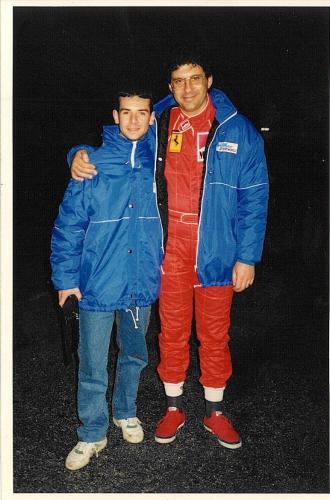 Giorgio Vinella instructor to italian anchorman Fabrizio Frizzi Racing School Henry Morrogh 1994