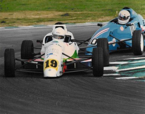 Giorgio Vinella Formula Ford 1800 Zetec British Championship 1994 Donington Park ultima curva