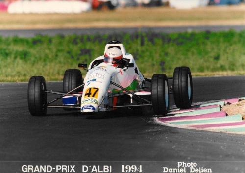 Giorgio Vinella Formula Ford 1800 Zetec Campionato Francese 1994 Grand Prix d'Albi sui cordoli Olympic Motorsport