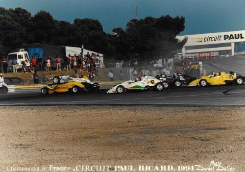 Giorgio Vinella Formula Ford 1800 Zetec Campionato francese 1994 Paul Ricard Olympic Motorsport prima curva dopo la partenza